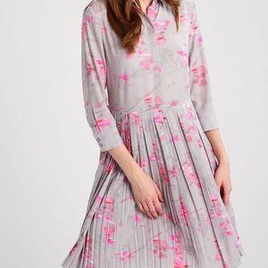 NWOT Banana Republic Grey & Pink Button Up Dress 8